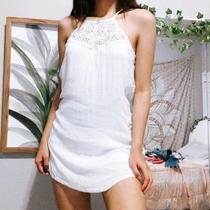 halter top dress with lace detailing